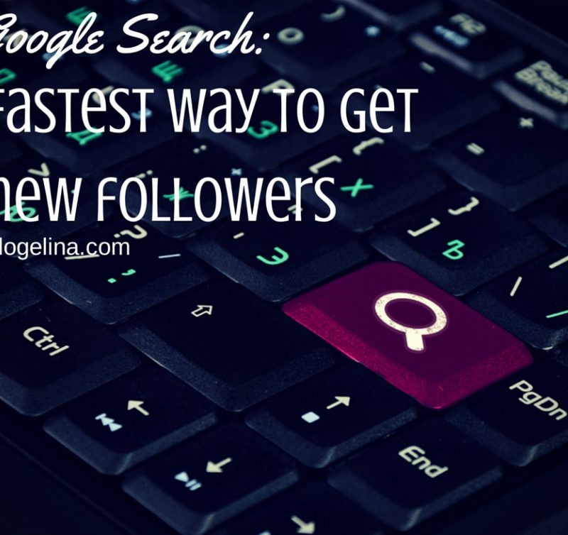 "Google Search Thursday: ""fastest way to get more blog followers"""