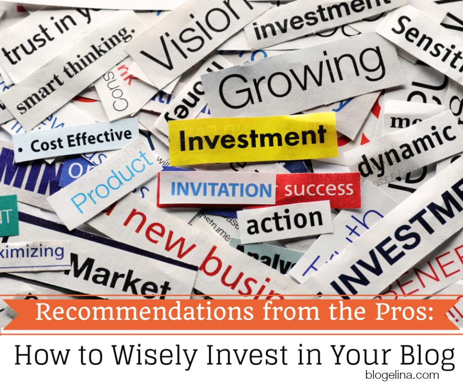 Recommendations from the Pros How to Wisely Invest in Your Blog