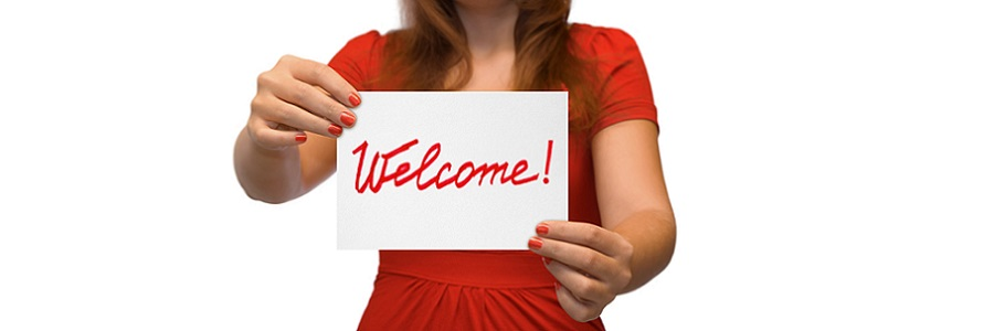 http://www.dreamstime.com/stock-photo-woman-card-welcome-image11561130