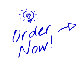 Order Now - Hand Drawn Blue