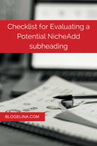 Checklist for Evaluating a Potential Niche - Blogelina.