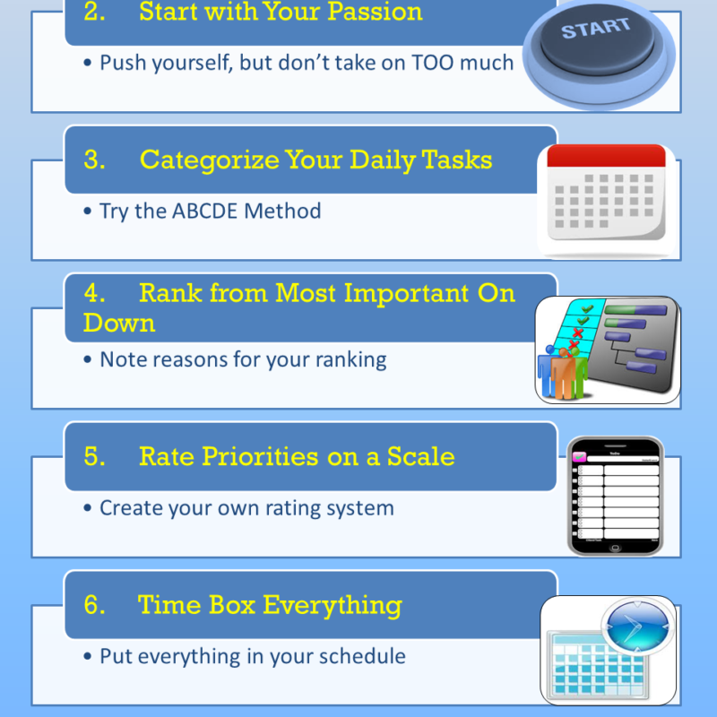 8 Steps To Getting Your Priorities Straight {Infographic}