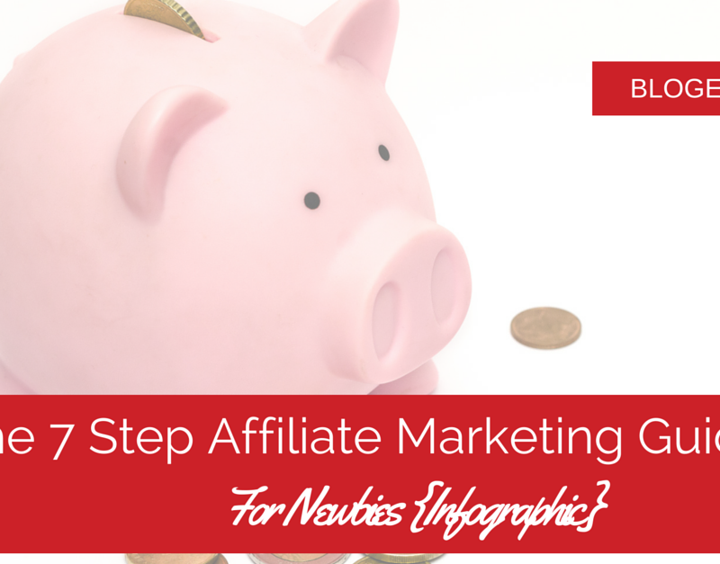 The 7 Step Affiliate Marketing Guide For Newbies {Infographic}
