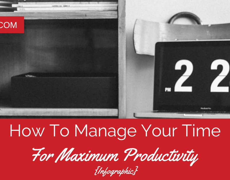 How To Manage Your Time For Maximum Productivity {Infographic}