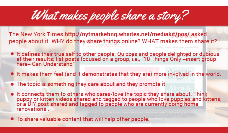 What makes people share a story