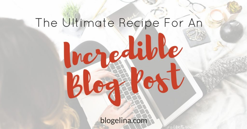 ultimate recipe blog post
