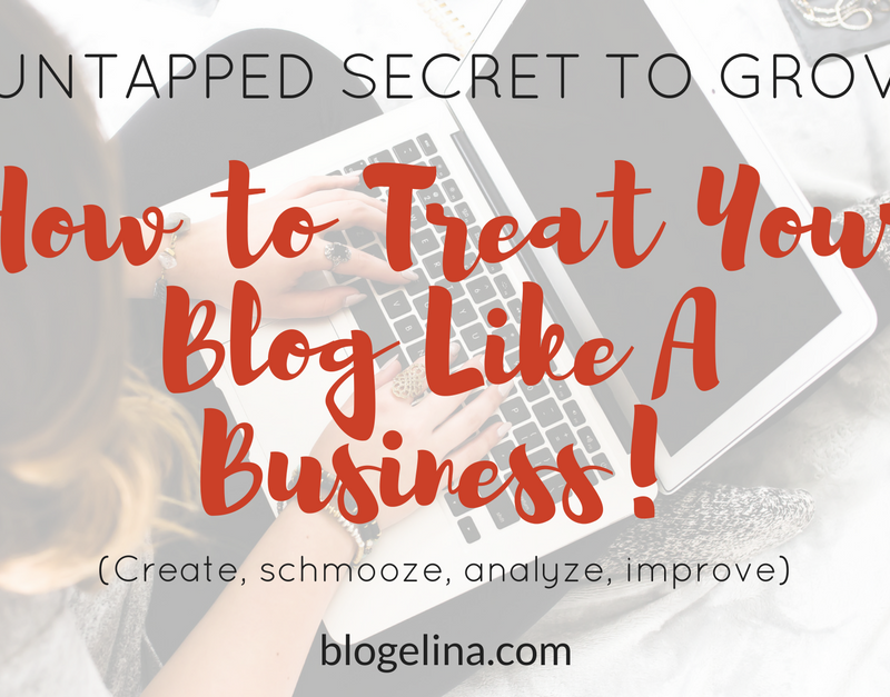 The Untapped Secret to Growth: How to Treat Your Blog Like A Business!