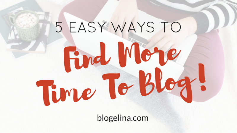 How to Find Time For Your Blog
