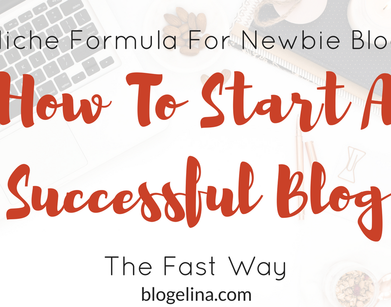 Blog Niche Formula For Newbie Bloggers: How To Start A Successful Blog The Fast Way