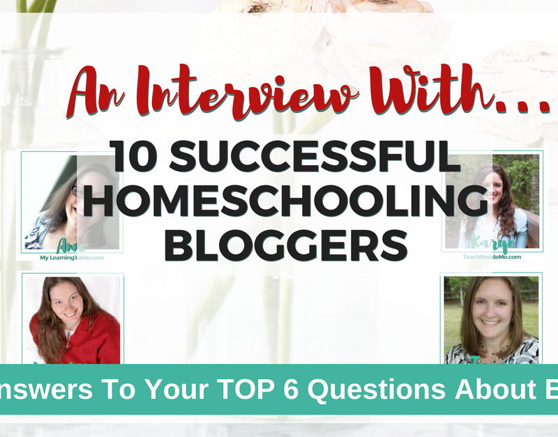 10 Homeschooling Mom Bloggers Share How They Make Money From Home With Their Blogs!
