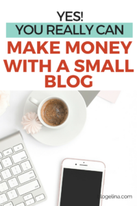 Looking for small blog tips on how to make an income blogging? Here are several ways to make money blogging - even if you have just a small blog! It really IS possible to make a living blogging - click to find out how!